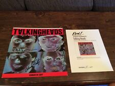 Talking Heads Vinyl LP Album Insert autographed and authenticated