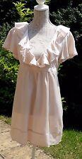 New Dorothy Perkins cream ruffle front tea dress UK 14 cross over
