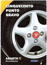 Fiat Cinquecento Punto Bravo Abarth Accessories 1996-97 UK Market Sales Brochure