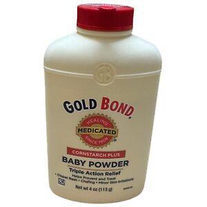 1 Gold Bond Cornstarch Plus Baby Powder 4 oz Triple Action Relief Medicated
