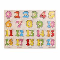 jouets en bois de puzzle numerique de puzzle, puzzle de Montessori educatif U2W4