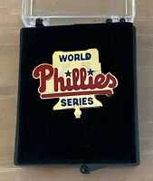 VINTAGE 1993 MLB PHILADELPHIA PHILLIES WORLD SERIES BASEBALL PRESS PIN W/ Case
