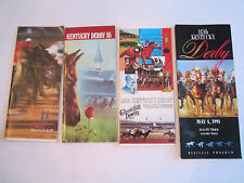 LOT OF 4 KENTUCKY DERBY SCORE CARD BOOKLETS - '84, '86, '89, '91 - TUB BN-9