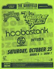 Hoobastank All-American Rejects Ozomatli Warfield San Francisco 2003 Flyer Green