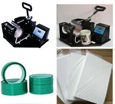 Heat transfer printing baking-cup machine + Adhesive Tape + Sublimation Paper