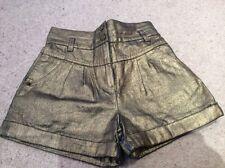 Girls Adams gold denim shorts  10 years. Excellent condition.