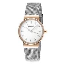 Skagen Ancher SKW7203 Women's 26mm White Dial Stainless Steel Mesh Watch