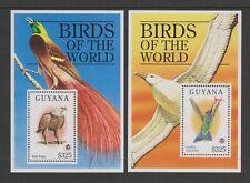 Guyana - 1994, Philakorea, Birds of the World sheets x 2 - MNH - SG MS4141