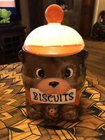 Vintage Adult and Baby Bear Ceramic Cookie Jar made in Japan