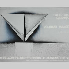 Volkmar Haase. Plakat Skulptur/Grafik, Ausstellung Berlin 1972.