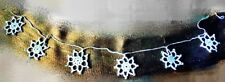 Christmas tree ornaments winter snowflakes garland decoration handmade crochet