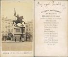 Bernheim, Belgique, Bruxelles, Place royale Vintage CDV albumen carte de visite