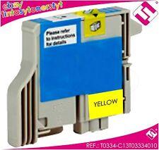 Ink Yellow T0334 For Printer Stylus Photo 950 Cartridge Yellow Noonepson