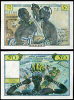 FRENCH WEST AFRICA TOGO 50 FRANCS 1956 P 45 AUNC ABOUT UNC SEE SCAN