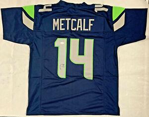 D.K. DK Metcalf Signed Blue/Green Jersey Authentic Autograph James Spence JSA