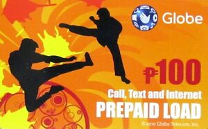 Globe P100 Call Txt & Internet Prepaid Load Card