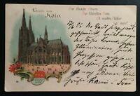 """AK Litho """"Gruß aus Köln"""" gelaufen 1897 gestempelt/o """"Köln u. Charlottenburg"""""""