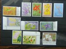 Barbados 1974 Orchids values to $5 MNH