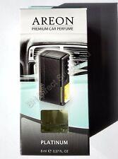 Areon Quality Car Perfume Luxury Air Freshener Long Lasting  Platinum 8 ml.
