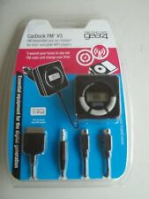 GEAR4 CARDOCK FM TRANSMITTER CHARGER FOR SAMSUNG, APPLE, HTC - BRAND NEW