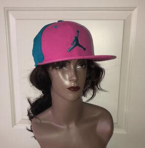 Air Jordan Jumpman Baseball Cap, Teal & Pink, Snapback