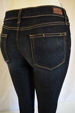 NEW PAIGE Denim SKYLINE STRAIGHT mid-rise Jeans Woman SZ 24 IN STREAM DARK BLUE