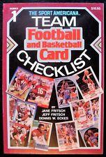 1990 SPORTS AMERICANA TEAM FOOTBALL & BASKETBALL CARD CHECKLIST #1 BY FRITSCH