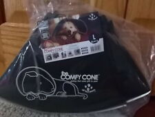 NEW! SEALED! The Original Comfy Cone Soft Pet Recovery Dog Collar Black LARGE