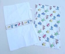 Cat Kitty Dish Tea Towels Kitchen Lot of 2 Pair Colorful Cotton