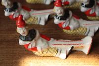 Messerbänkchen Messerbank Ablage Messer Vintage Porzellan Clown Sowjetunion
