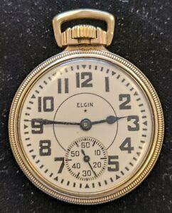 Elgin 21 Jewel BW Raymond RAILROAD Grade Pocket Watch Large 16s
