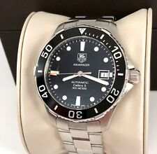 TAG Heuer Calibre 5 Aquaracer Automatic Mens Watch WAN2110 in Exc. Cond.