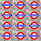 SELECT YOUR LONDON UNDERGROUND TUBE TRAIN RAILWAY STATION METAL PLAQUE SIGN MD7