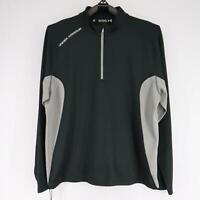 Mens Under Armour Regular Fit Black Pullover Jacket Size 2XL XXL 1/4 Zip Running