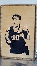 Jagola Calados en Madera Diego Maradona Argentina #10 cuadro framed wood carving