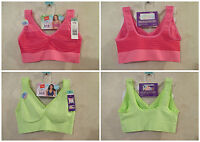 LOT OF 2 NWT HANES S Pink Green Wire Free Soft Cup Bras~34C 36A 36B 36C 38A 38B