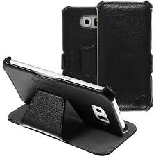genuine Leather Case for Samsung Galaxy S6 - Leather-Case black + glass film