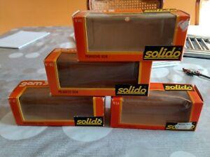 SOLIDO. 4 BOITES VIDES