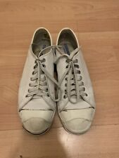 Converse jack purcell Low White Glove leather Made In USA Size 9