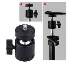 Swivel Mini Ball Head Bracket Holder for 1/4 inch Screw Mount Tripod DSLR Camera