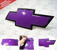 (2) Silverado Gloss Purple Universal Chevy Bowtie Vinyl Sheets Emblem Decal