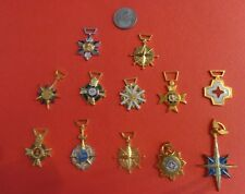 REPUBLIC OF SOUTH VIETNAM MINIATURE MEDAL PLANCHETTES, YOU GET ALL 12,WOLF BROWN