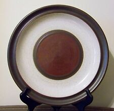 Denby Potters Wheel Rust Dinner Plate Stoneware England Vintage 1970's