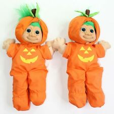 """Vintage Russ Trolls 14"""" Halloween Troll Set of 2 Complete with Outfit and Hat"""