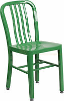 Mid-Century Green 'Navy' Style Dining Chair Cafe Patio Restaurant In-Outdoor