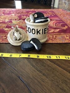Munro 1996 After The Party Figurine • Mice in Cookie Jar • Limited Edition