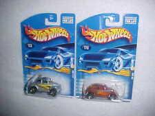 2 HW VW BUG's (1) BAJA BUG & (1) VW BUG VHTF NEW HOT WHEELS DIECAST CARS
