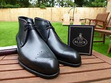 V165 Barker Black - CHUKKA Black Calf - UK 11 - US 12