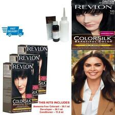 Revlon Hair Dye Permanent Color Colour Cream Black Hair Care Kit Ammonia Free