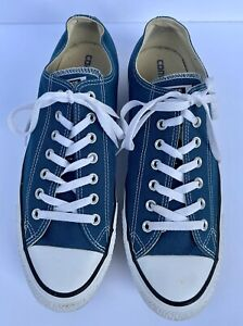 Converse All Star Low Top Unisex Canvas Shoes Sneakers Blue Mens 12 Women 14